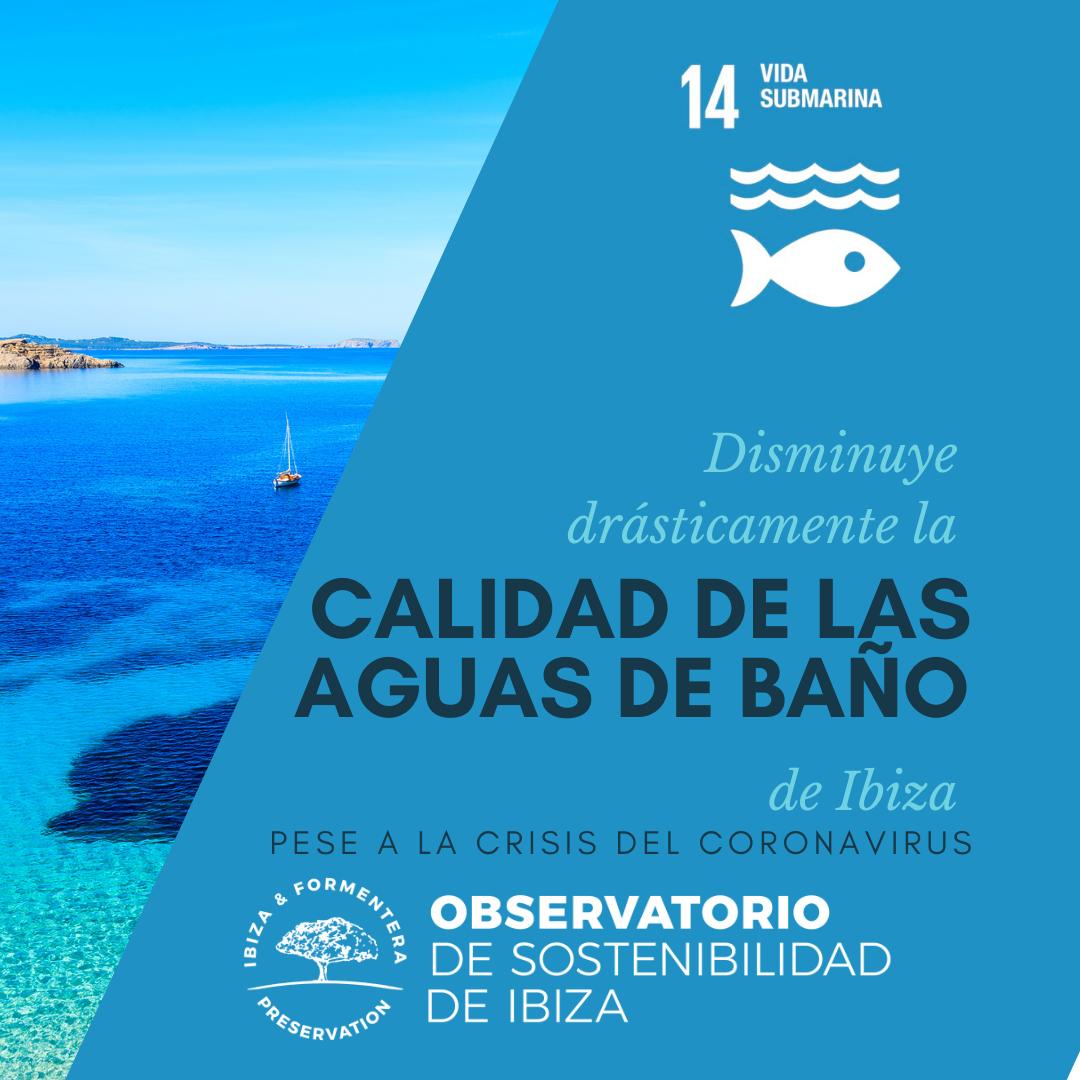 Disminuye drásticamente la calidad de las aguas de baño de Ibiza pese a la crisis del coronavirus